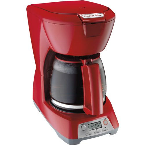 Red 12-Cup Programmable Coffeemaker