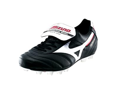 MIZUNO Morelia MD Mens Football Boot, Black/White/Red, UK6.5