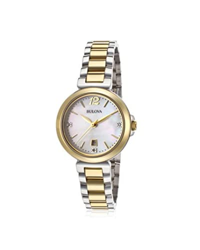 Bulova Women's 98P142 Diamond Gallery Analog Display Japanese Quartz Two Tone Watch