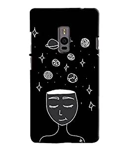 EU4IA ME AND UNIVERSE MATTE FINISH 3D MATTE FINISH Back Cover Case For ONE PL...