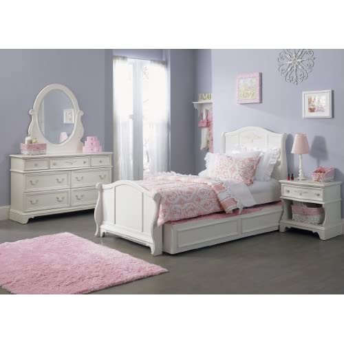 Liberty arielle youth twin sleigh bed set for Bedroom furniture amazon