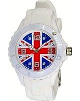 Montre Drapeau Anglais Union Jack cadran 4,3 cm - Pochette cadeau LovaLuna offerte - Par LovaLunaTM