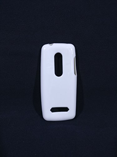 iCandy™ Colorfull Thin Soft TPU Back Cover For Nokia Asha 206 - White  available at amazon for Rs.109
