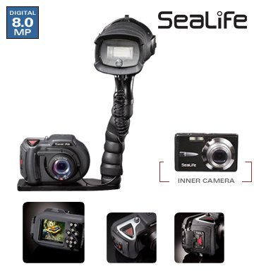 Sealife DC800 Pro 80 Megapixel 4 X Optical Zoom 27- Inch LCD Screen UnderwaterLand Camera in Removable Housing with Digital Pro Flash