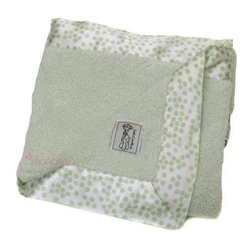 Little Giraffe Satin Chenille Blanket front-977626