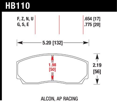 EBC Brakes DP5001 Bluestuff NDX Full Race Brake Pad
