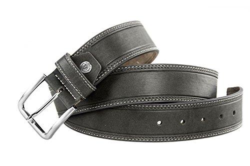 Cintura uomo SOLO SOPRANI grigia con doppie impunture laterali 120 cm R5066