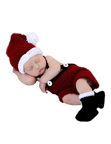 Ninimour Ropa Disfraz de Papá Noel Fotografía para Bebé recién nacido