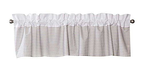 Trend Lab Dove Chevron Window Valance, Gray