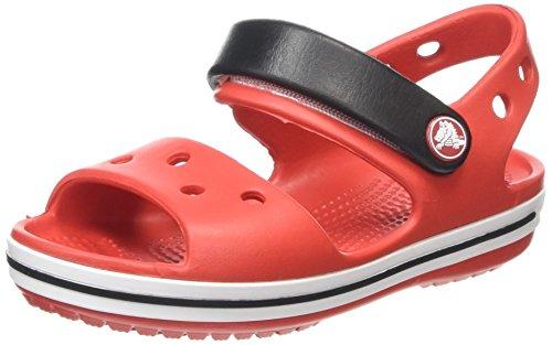 Crocs Crocband Sandalo K Ciabatte, Unisex Bambini, Rosso (Flame/White 884), 29-30