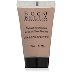 Ecco Bella FlowerColor Liquid Foundation SPF 15, Natural,1 oz/30 ml