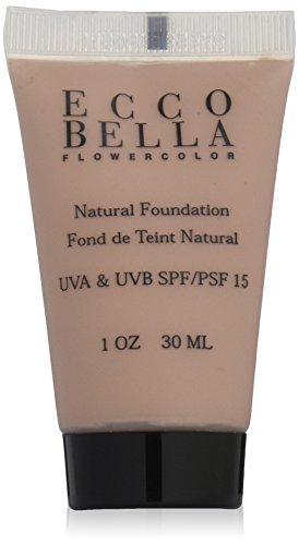 Ecco Bella FlowerColor Liquid Foundation SPF 15, Natural,1 oz/30 ml