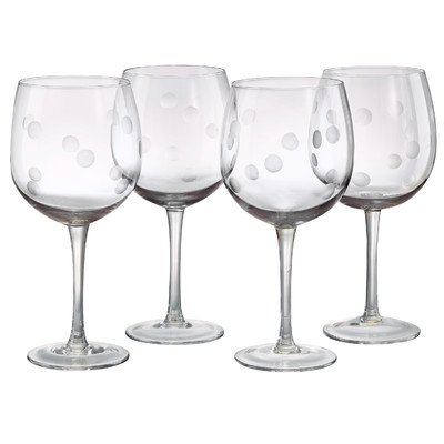 Polka Dot Balloon Wine Glass (Set of 4)