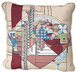 Frank Lloyd Wright May Basket Tapestry Pillow Designer Gift