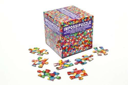 Impossipuzzle Jelly Beans Jigsaw Cube Puzzle 100 Pieces Unique Challenge - 1