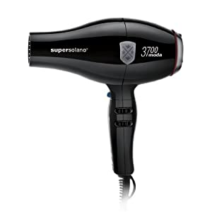 Solano 3700moda Supersolano Professional 1875 Watt Tourmaline Ceramic Ionic Dryer Black