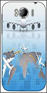 Snoogg Airplane Around The World Designer Protective Back Case Cover For HTC Sensation Xl