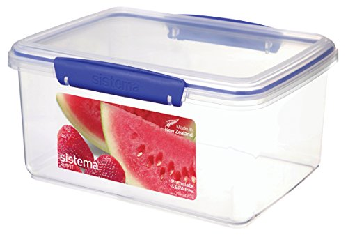 sistema-klip-it-food-storage-container-3-l-clear-with-blue-clips