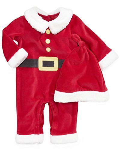 First Impressions Baby Santa Suit 2-piece Set Tango Red