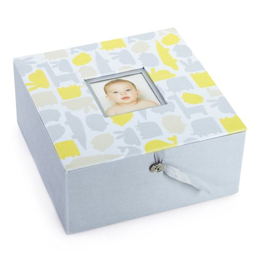 Pearhead Signature Collection Keepsake Box, Yellow