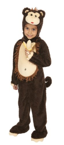 Just Pretend Kids Monkey Animal Costume, Large
