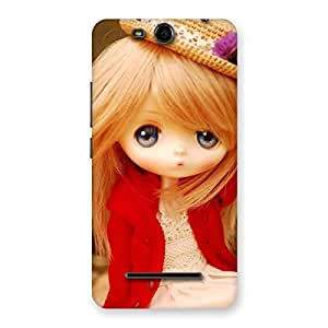 Stylish Tiny Bride Girl Multicolor Back Case Cover for Micromax Canvas Juice 3 Q392