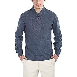 Zobello Men's Sweatshirt (21001A_Ink Blue Melange_XX-Large)