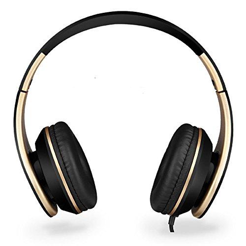 Sound Intone 密閉型ヘッドホン i65 【並行輸入品】(ブラック・ゴールド)