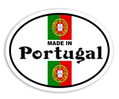 Made In Portugal - Portuguese Flag Car Sticker / Window Decal Bumper Badge (Portuguese Flag Decal compare prices)