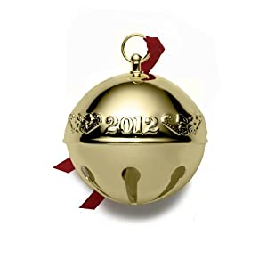 Wallace 2012 Gold Plated Sleigh Bell Ornament, 23rd Edition