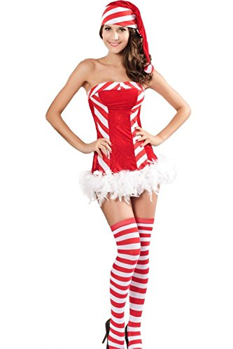 L04BABY Women's Santa Candy Costume