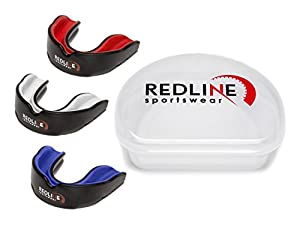 Redline Sportswear Mouthguard w/ Vented Case - Protection For All Contact Sports