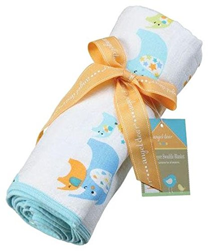 Angel Dear Blue Elephant Nap Blanket - 1