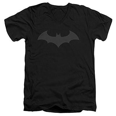 DC Batman Hush Logo Slim Fit V-Neck T-Shirt