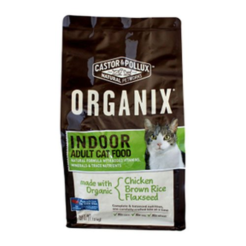 Image of Organix Adult Indoor Feline Dry Cat Food, 40 Ounce