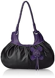 Fostelo Women's Attractive Shoulder Bag (Black) (FSB-251)
