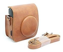 CAIUL Vintage Camera Case for Fujifilm Instax Mini 50s--Brown