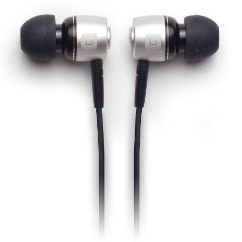 Earjax Bz-Etc60-0611 Tonic Series Headphones, Black/Silver