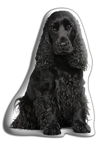cocker spaniel schwarz geschenk sch ne gro e kuschelkissen luxuri se strokable f rmige. Black Bedroom Furniture Sets. Home Design Ideas