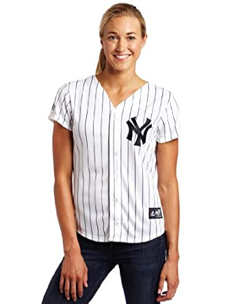 MLB New York Yankees Mark Teixeira White Navys Home Baseball Ladies Jersey by Majestic