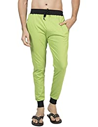 Clifton Men's Ribbed Slim Fit Track Pant - Parrot Green