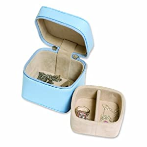 Baby Blue Zippered Mini Jewelry Case
