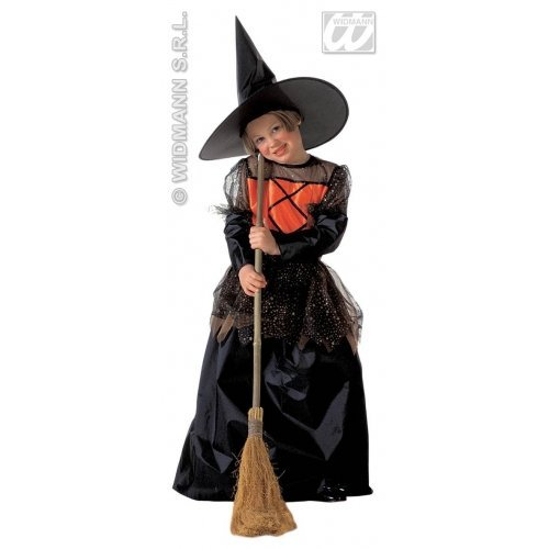 Girls Little Witch Deluxe Child Costume Small 8-10 yrs for Halloween