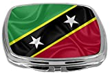 Rikki Knight Flag Design Compact Mirror, Saint Kitts and Nevis, 3 Ounce