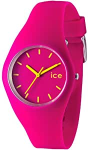 Ice-Watch Unisex Quartz Watch with Pink Dial Analogue Display and Pink Silicone Strap ICE.CH.U.S.12
