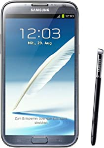 Samsung Galaxy Note II N7100 Smartphone 16GB (14 cm (5,5 Zoll) HD Super AMOLED Touchscreen, Quad-core, 1,6GHz, 8 Megapixel Kamera, Android 4.1) titanium-grau