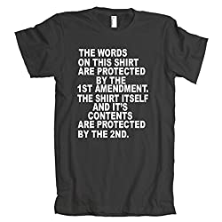 1st Amendment Protected By The 2nd American Apparel T-Shirt Black 2XL