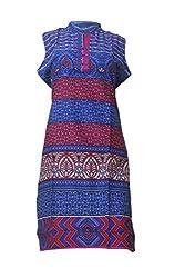 Tulip Collections Women's Cotton Kurti, Blue_L
