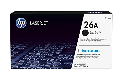 HP 26A (CF226A) Schwarz Original Toner für HP Laserjet Pro M402, HP Laserjet Pro M426