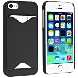 Black ID Credit Card Holder Hard Snap-on Case Back Cover For Apple iPhone 5/ 5S